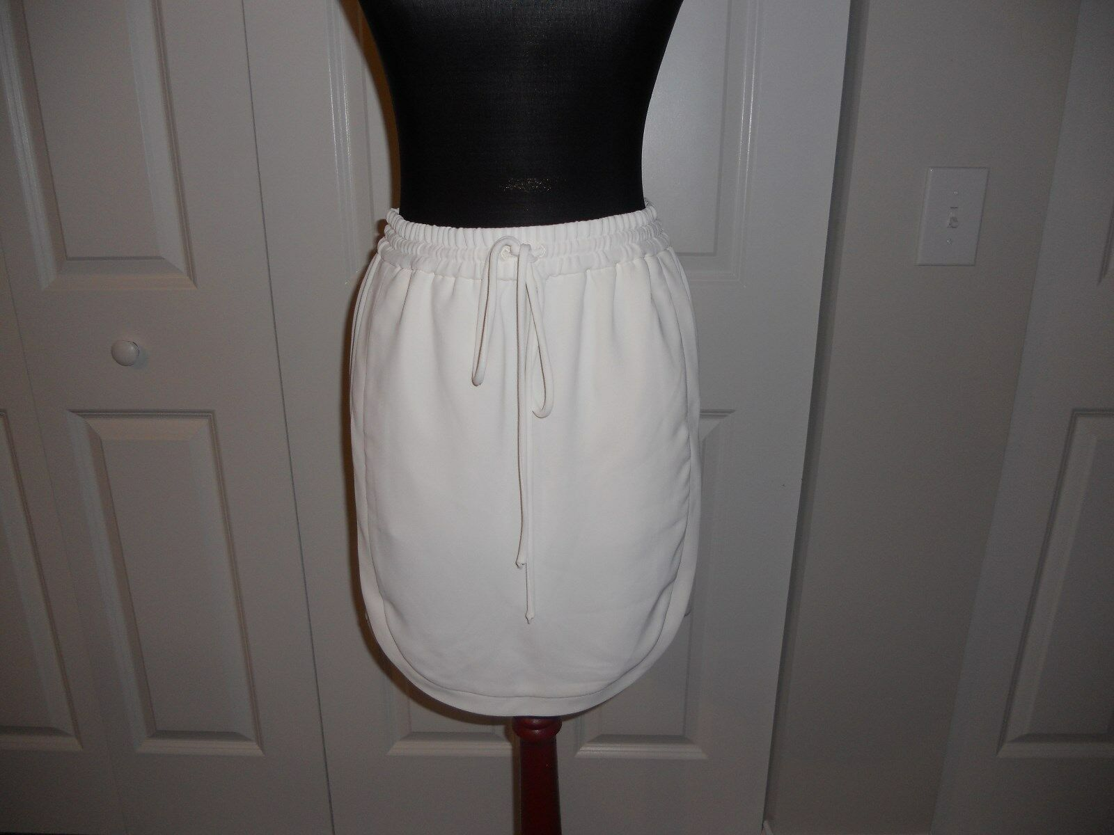 NWT J CREW DRAPEY DOUBLE TWILL SKIRT IN IVORY SIZE 00