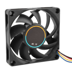 70mmx15mm-12V-4-Pins-PWM-PC-Computer-Case-CPU-Cooler-Cooling-Fan-Black-T9E6-Y4S7