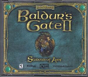 Baldur-039-s-Gate-II-Shadows-Of-Amn-Windows-Computer-PC-Game-CD-Rom-Near-Mint