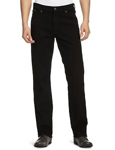 Wrangler-Texas-Stretch-Jeans-New-Men-s-Black-Overdye-Denim-Pants-All-Sizes