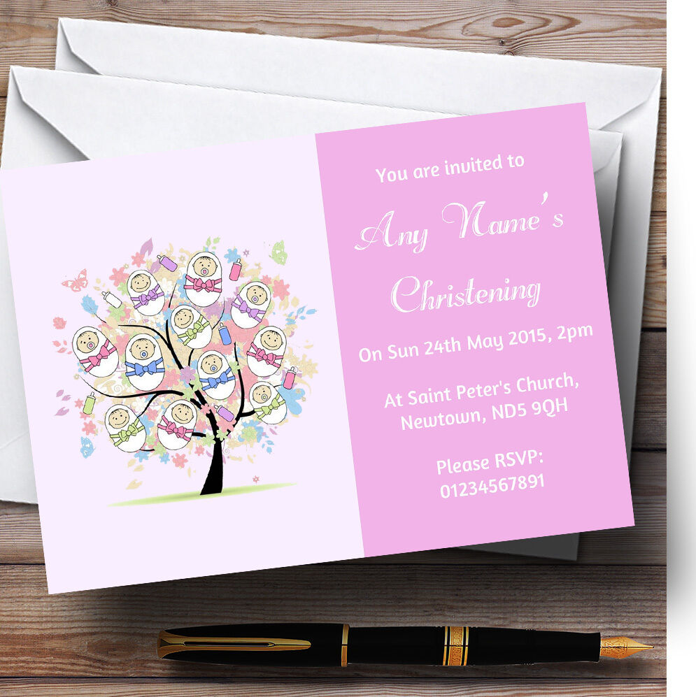 Baby Tree Girl Rosa Girl Tree Christening Party Personalised