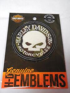 Harley Davidson Skull Patch Emblem Camouflage hdemf1019