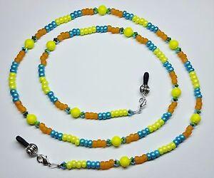 Sunshine-amp-Turquoise-Sea-Austrian-Crystal-Pearl-Bead-Mix-Eyeglass-Chain