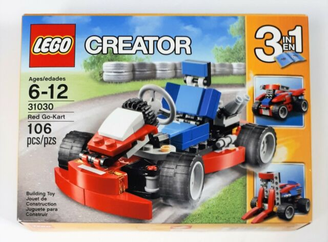 Lego Creator 3 in 1 Red Go-Kart Building Toy - 31030 - New Sealed - Wear on pkg
