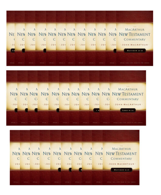 The MacArthur New Testament Commentary Set of 33 volumes (MacArthur New Testament Commentary Series)