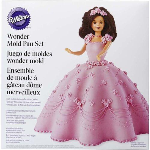8x5 in Baking Pan Non-Stick Wilton Wonder Mold Doll Cake Tin Kit Aluminium