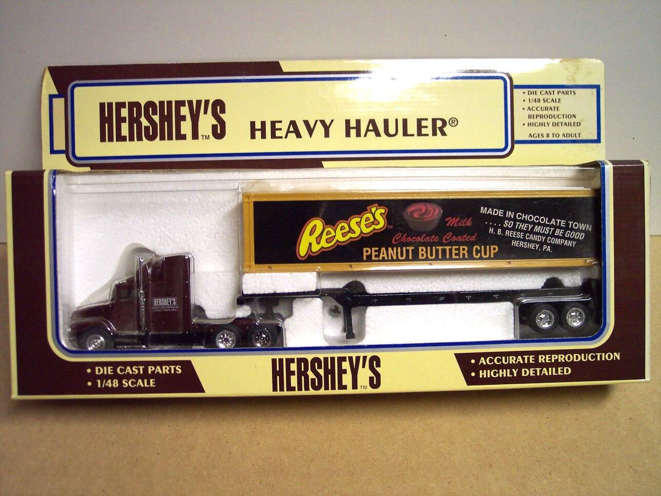 Hershey's Peanut Butter Cup Tractor Trailer 1 48 Scale Die Cast. Special Offer