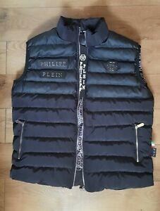 Philipp Plein Vest   SLEEVELESS MEN  Black SIZE XL