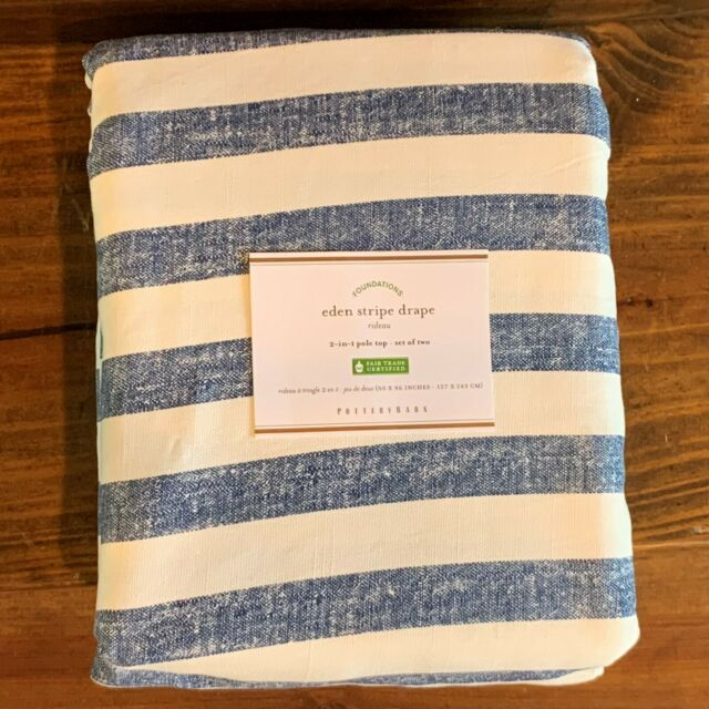 Pottery Barn Sierra PRINT DRAPES-50 X 96-SET OF TWO-NEW IN