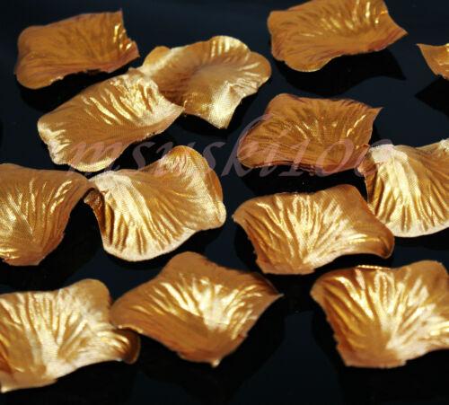 Pétales de Rose Soie Confettis Mariage Haut Décoration de table matériau épais 12 couleurs