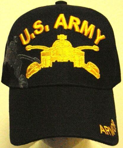 ARMY YELLOW ARMOR BRANCH SCHOOL COMBAT CAVALRY FORCES M-26 TANK CAP HAT NEW U.S
