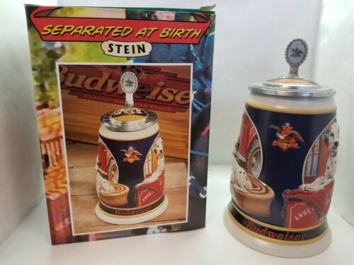 Budweiser Separated at Birth Stein with Box Excellent Condition