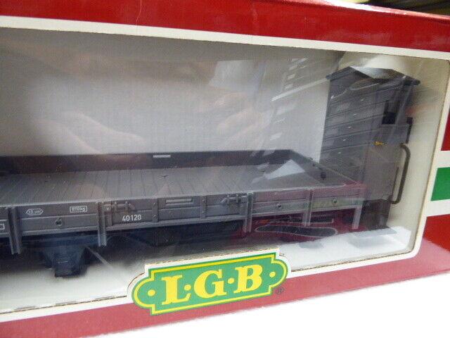 LGB Traccia G ART 40120 aperto carri merci con BHS OVP