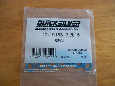 12-19183 3 QUICKSILVER Gearcase Drain Screw Seal Blue Quantity 15