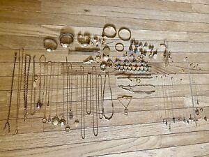 Huge Lot 14k 12k 10k Gold Filled Antique Older Vintage Jewelry Wear Scrap 521g