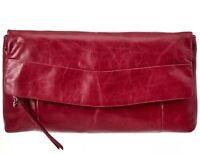 Hobo International Arlene Clutch - Leather Merlot (dk Red) $148