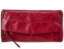 NWT! Hobo International Arlene Clutch  - Leather Merlot (dk Red)  $148
