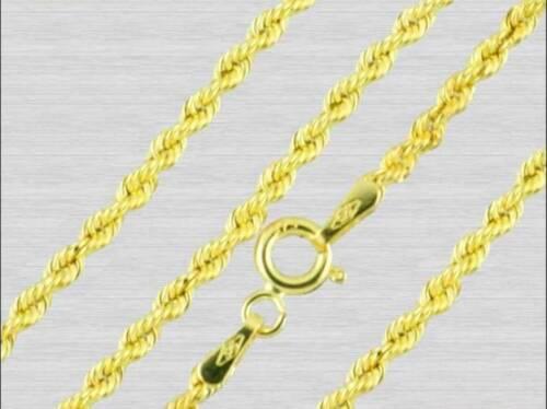 Goldkette 333 echt Gelbgold 375 wunderschöne Gold Kette Damen Kordel Kordelkette