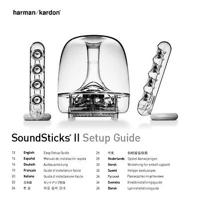 harman kardon soundsticks 2 speakers owners manual ebay rh ebay com Harman Kardon SoundSticks Speakers Harman Kardon Bluetooth Speaker