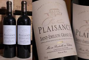 Bien 2 Fl. 2000er Chateau Plaisance-saint Émilion Grand Cru-top Millésime!!!-afficher Le Titre D'origine