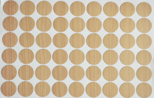 18 X 20MM SELF ADHESIVE BEECH SCREW HOLE CAM COVER CAP FURNITURE KITCHEN BEDROOM