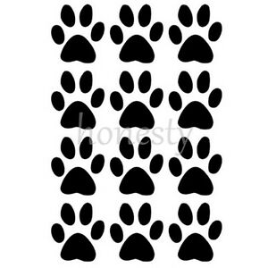 2PCS-Set-of-12-Dog-Paw-Prints-Sticker-Vinyl-Decal-Car-Glass-Window-mirror-Decor