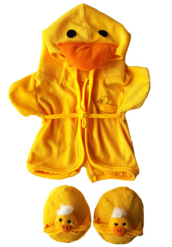 Duck Robe & Slippers Pajamas Outfit Teddy Bear Clothes Fit 14 - 18 Build-A-Bea