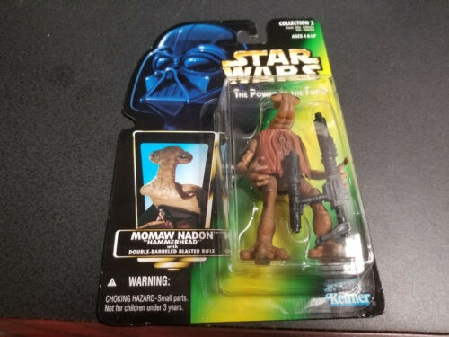 New! Kenner Star Wars Power of the Force Momaw Nadon Hammerhead figure