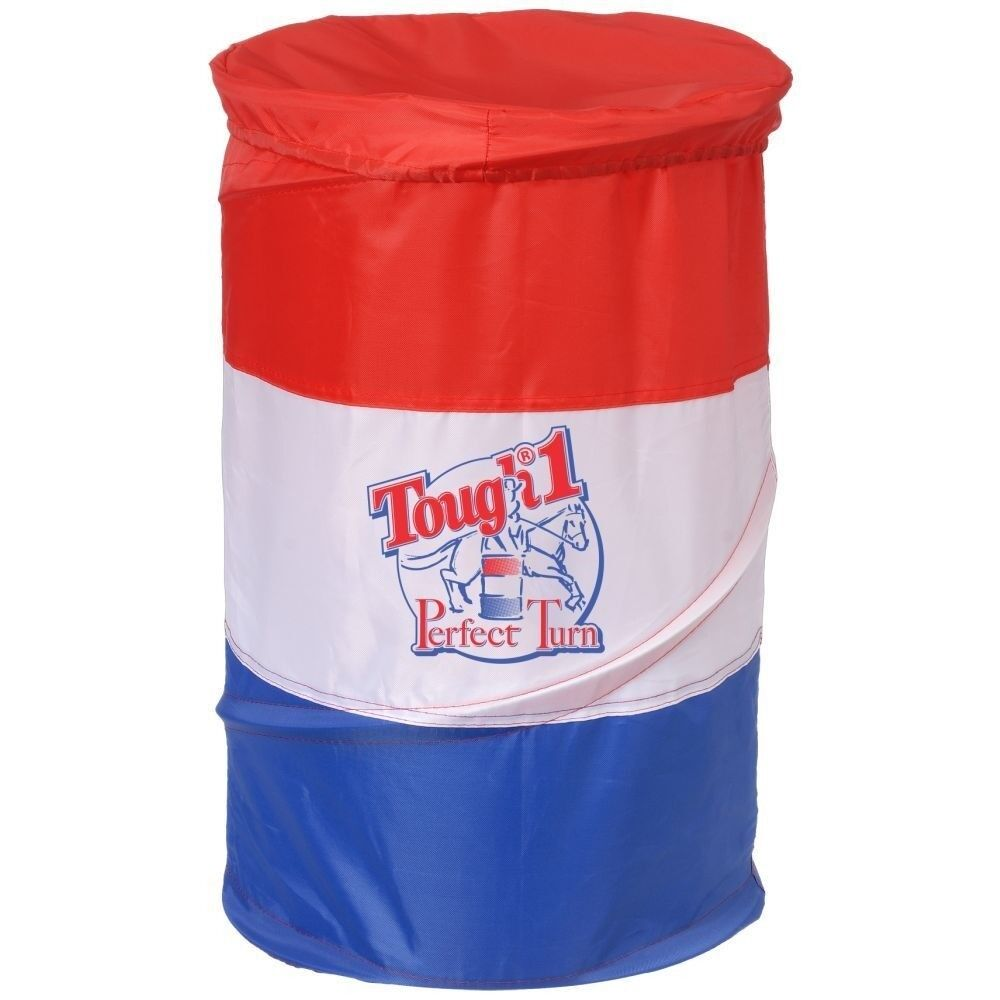 Kids Tough-1 Perfect Turn Collapsible Barrel Set of 3 Red White bluee