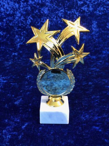 Gold Shooting Stars Trophy Award Achievement Sport School Dance Boxing FREE eng