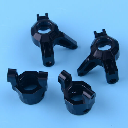 Aluminum Steering Knuckles C hub Upgrade Part Fit For 1//10 RC Axial Wraith Black