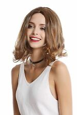 Damenperücke Bob Longbob glatt lockige Spitzen schulterlang blond Mittelscheitel