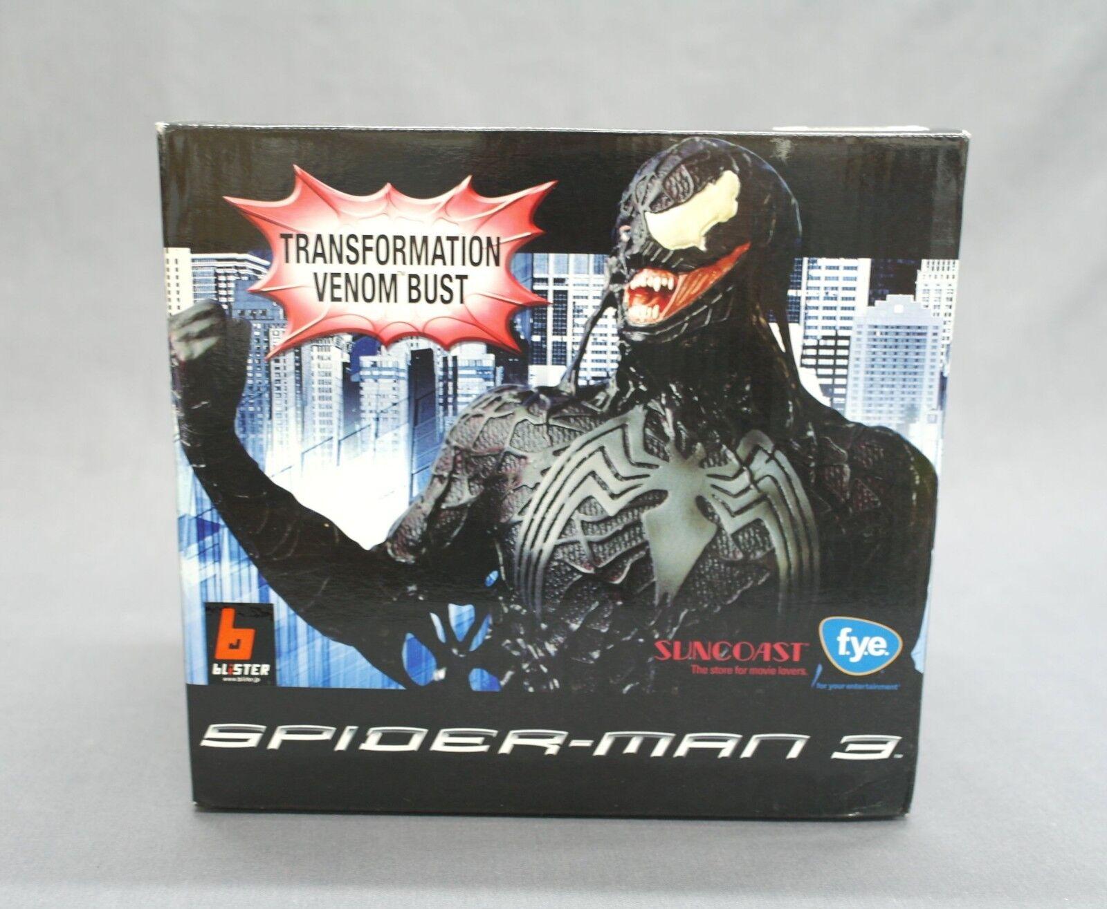 Spider-Man 3 FYE/Suncoast Transformation Venom Bust Diamond Select NEW B80