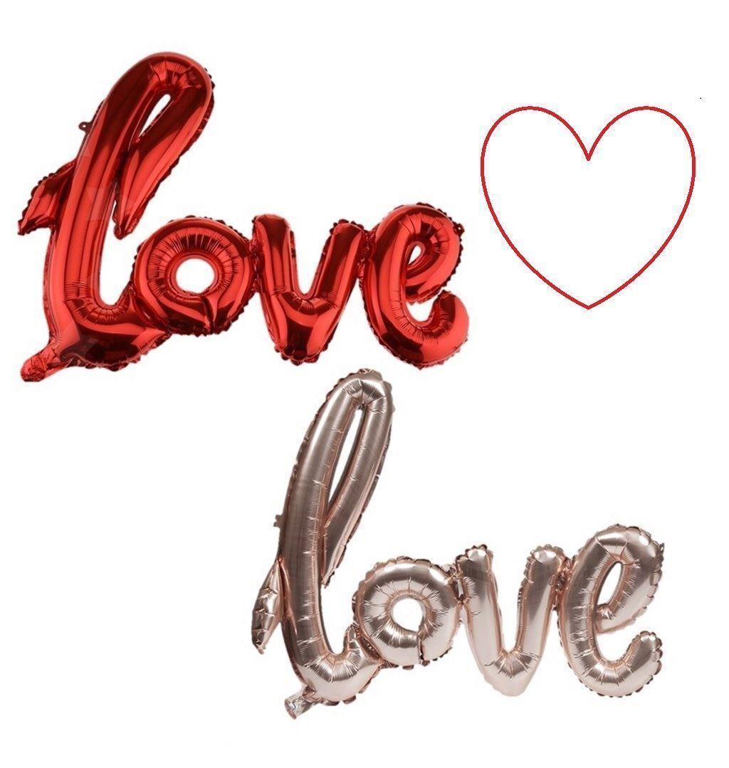 """40/"""" Folienballon Buchstabe Love ROT Hochzeit Geburtstag Luftballon Deko"""