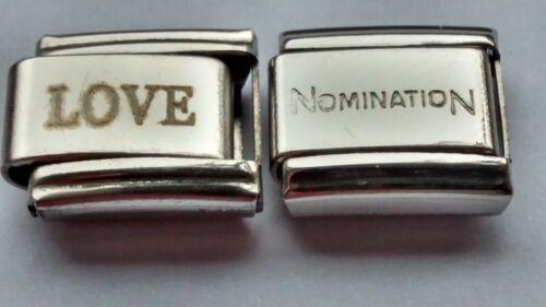 Love 9mm italiana encantos Plus 1 X Genuino Pulsera Nomination enlace