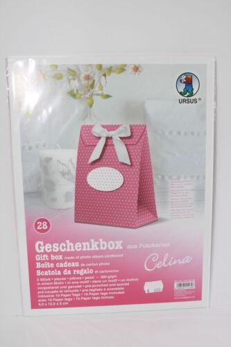 Karten Basteln & Kreativität Geschenkbox  Pink/Punkte Kommunion Firmung Konfirmation Geburtstag