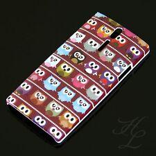 Sony Ericsson LT26i Xperia S Hard Case Hülle Etui Comic Eule viele Rot Braun Owl