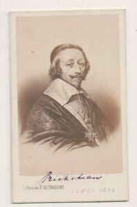 Vintage-CDV-Cardinal-Richelieu-French-Minister-General-E-Desmaisons-Photo