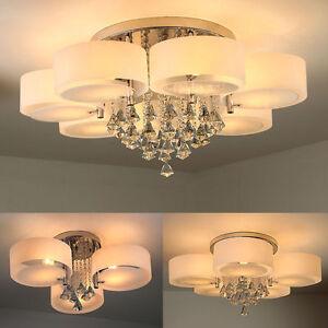 Das Bild Wird Geladen Deckenlampen Kristall Deckenleuchte Wohnzimmer LED E27 Lampen Warmweiss