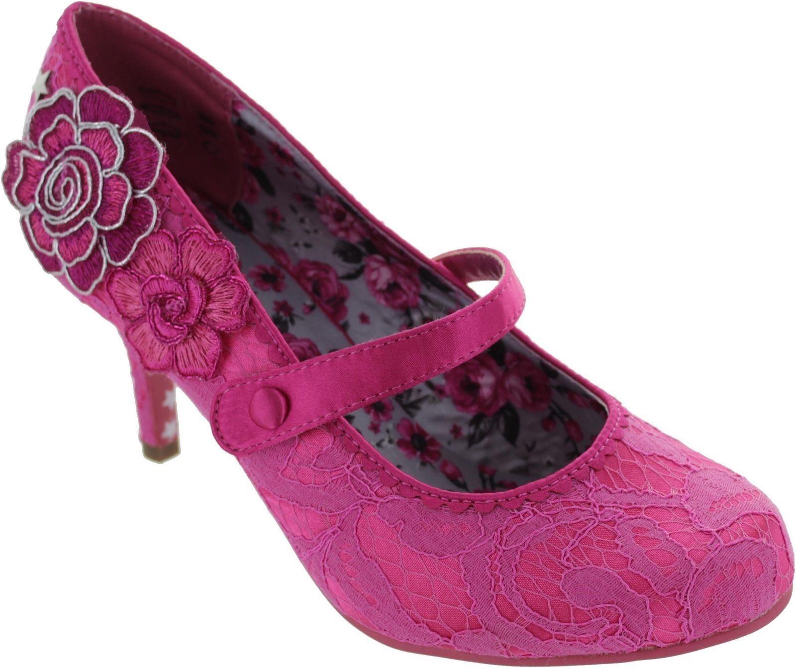 Joe marróns Couture Floozie Barra De Encaje Encaje Encaje rosado Mary Jane Zapatos UK 5  diseños exclusivos