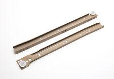 Metall Schublade-läufer Set Selbst Schließen Boden Fix Beige 300mm 1x paar