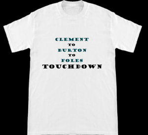 best service 7ef7b e74c6 Details about Eagles Super Bowl Champs Clement To Burton To Foles Philly  Special TD T-Shirt