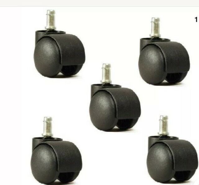 OFFICE CHAIR CASTERS TWIN WHEEL TIRE ROLLERS 5 pcs #CH-55
