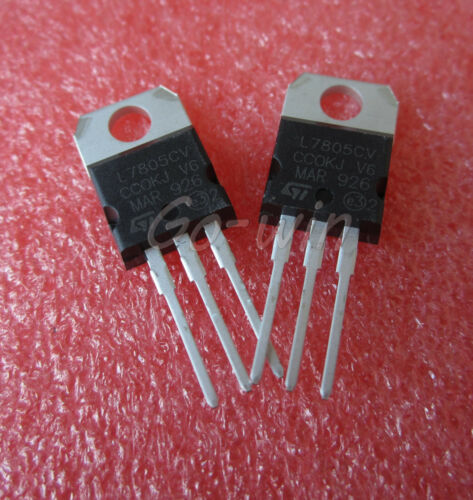 5Pcs L7805 7805 TO-220 ST Voltage Regulator 5V IC NEW HIGH QUALITY