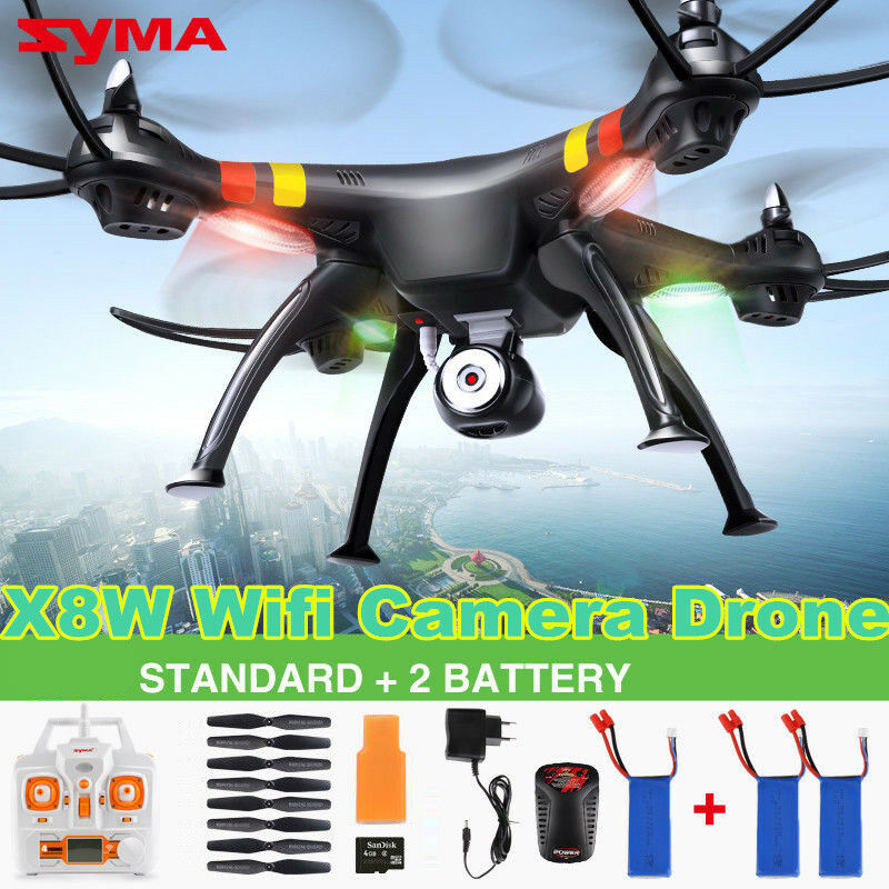 Genius Syma X8W RC Quadcopter Drone FPV Real Time WIFI Camera with 6Axis Gyro