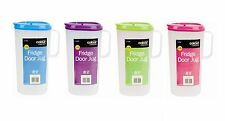 4x Set di 1.8l in plastica porta frigo contenitore Brocca Brocca Per Acqua Succo Latte
