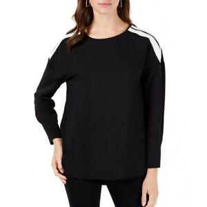 ALFANI-NEW-Women-039-s-Striped-shoulder-Blouse-Shirt-Top-TEDO