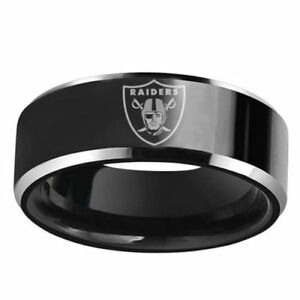 a5e50fad Details about New Oakland Raiders Stainless Steel Laser Engraved Men Ring  Band Football Team