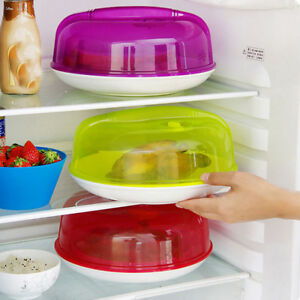 Microwave Plate Covers Steam Vent Lid Dish Food Splatter Home Kitchen Universal