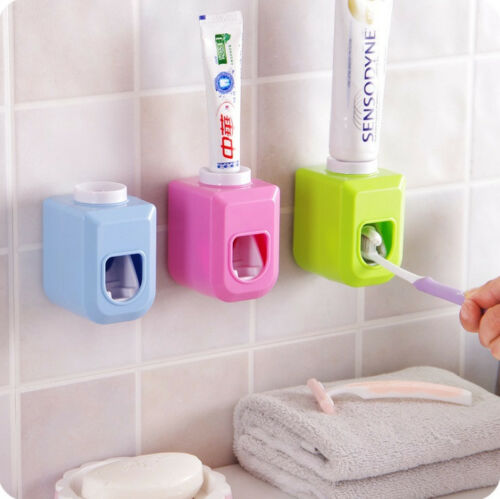 Home Touch Automatic Auto Squeezer Toothpaste Dispenser Hands Free Squeeze Out
